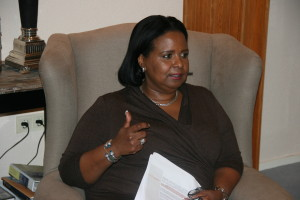 De Gevolmachtigde Minister van Curaçao Marvelyne Wiels (copyright KGMC)