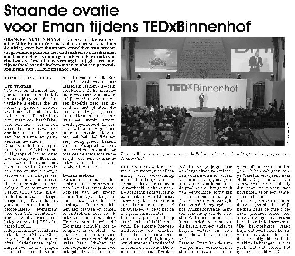 Artikel TEDxBinnenhof