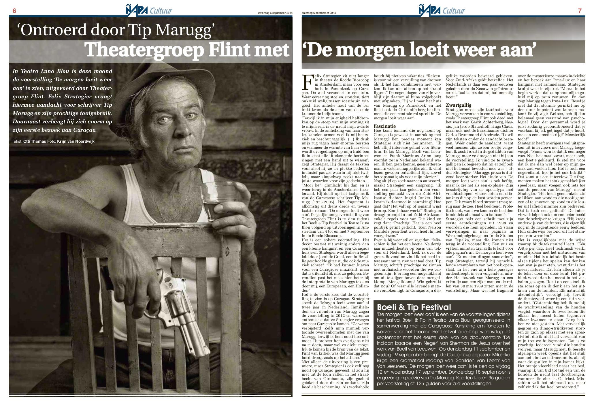 Interview: Ontroerd door Tip Marugg