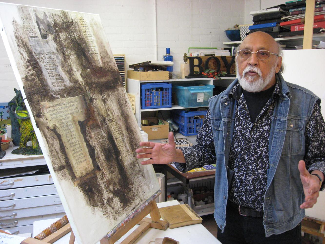 Kunstenaar Boy Namias de Crasto