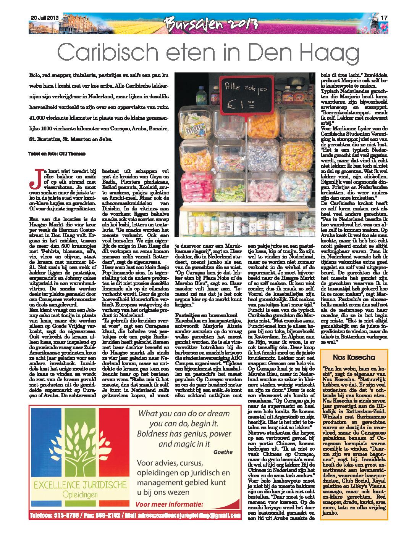 Bursalenkrant 2013 - editie eten