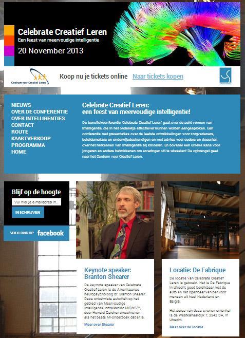 Celebrate Creatief Leren website
