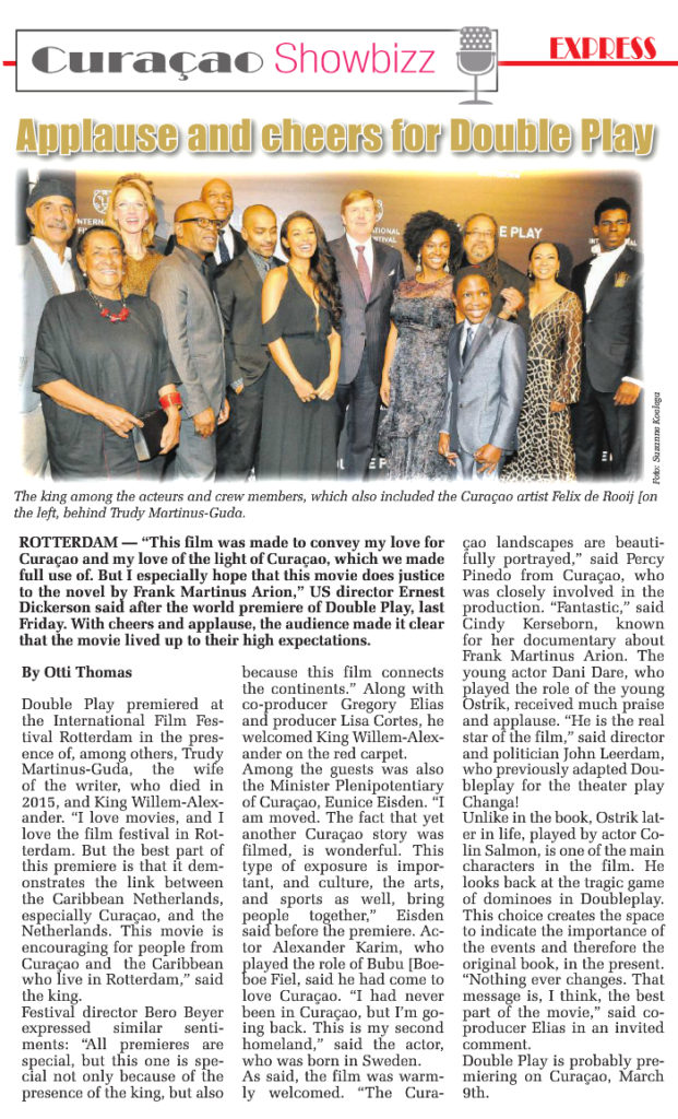 Double Play premiere coverage (Amigoe Express)